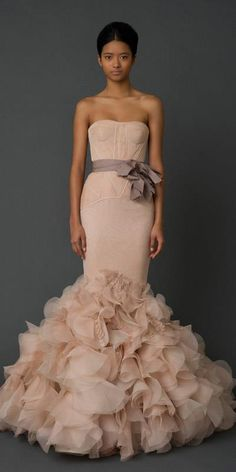 Vera Wang Holly blush wedding dress