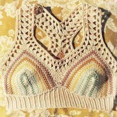 Bralette Pattern, Butterflies In My Stomach, Crochet Top, Butterfly, Baby, Instagram, Tops, Live, Women