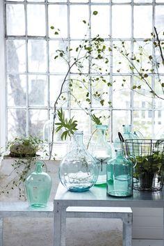 Lovely glass jars for entrance hall