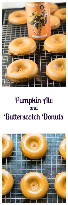 Pumpkin Ale Butterscotch Donuts are a delicious fall treat made with some seasonal beer! | Beer Girl Cooks