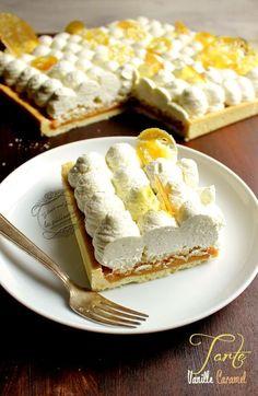Recette de tarte à la vanille et au caramel