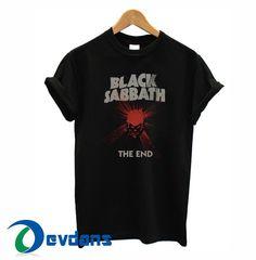 black sabbath the end logo T-shirt men, women adult unisex size S to 3XL