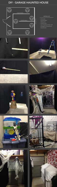 DIY - Garage Haunted House for Halloween