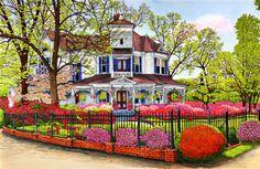 Hunter House, Madison GA ~ by Thelma Winter