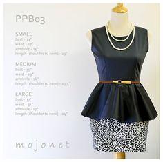 Dark Gray Vintaged Inspired 70s Sleeveless Peplum by mojonet, $29.00