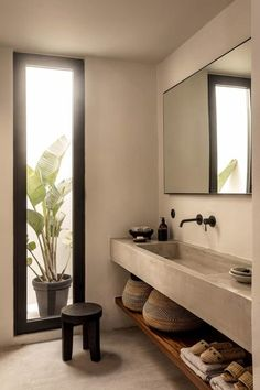 Home Inspiration: est living casa cook kos annabell kutucu michael s. - Home Inspiration: est living casa cook kos annabell kutucu michael s… - Bad Inspiration, Bathroom Inspiration, Bathroom Ideas, Bathroom Taps, Concrete Wood, Concrete Sink Bathroom, Polished Concrete, Master Bathroom, Bathroom Beach
