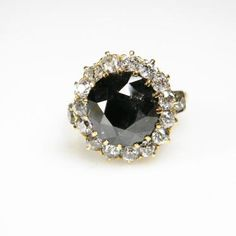 RECENTLY SOLD Victorian 4.5ct Black Diamond Ring   DB Gems