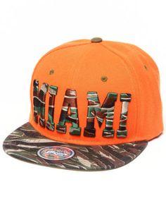 Buyers Picks Miami Tiger Camo City Snapback Orange Hat Baseball Heat Dolphins