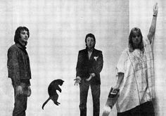 Linda DonofrioPaul McCartney is Dead: The Great Beatles Conspiracy June 27 · Linda with a bloody saw and Paul with the levitating black cat.Paul McCartney is Dead The Great Beatles Conspiracy Denny Laine, Paul Is Dead, Jumping Cat, Paul Mccartney And Wings, Good Day Sunshine, Ringo Starr, George Harrison, Great Love, John Lennon