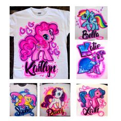 Airbrushed Tshirt My Little Pony 6 Different By AirbrushWorld Airbrush Designs Art