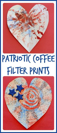 What a fun way to create red, white, and blue prints for July 4th!