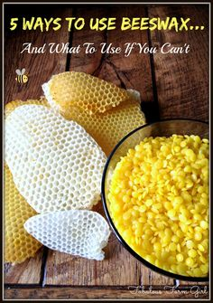 5 Ways To Use Beeswax...And What To Use If You Can't by FabulousFarmGirl. Beeswax has so many amazing properties and so many fun uses. It's one of my favorite all-natural ingredients.