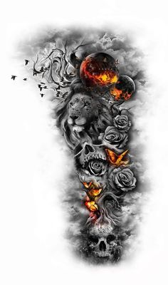If you are looking for inspiration for your next tattoo, look no further. Here are 110 beautiful sleeve tattoos for men and women. sleeve ▷ 1001 ideas for beautiful sleeve tattoos for men and women Lion Tattoo Sleeves, Skull Sleeve Tattoos, Quarter Sleeve Tattoos, Forearm Sleeve Tattoos, Girls With Sleeve Tattoos, Best Sleeve Tattoos, Tattoo Sleeve Designs, Tattoo Designs Men, Lion Sleeve