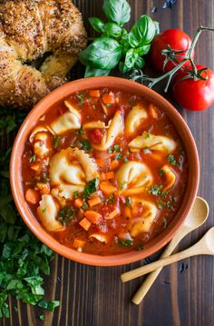 DOUBLE THE RECIPE! Tortellini Soup is my favorite one-pot dinner for busy weeknights! This delicious vegetarian soup also makes a great heat and eat option for work lunches! Easy Tortellini Recipes, Sausage Tortellini, Soup Recipes, Vegetarian Recipes, Healthy Recipes, Quick Recipes, Pasta Recipes, Delicious Recipes, Dinner Recipes