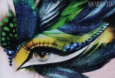 Stunning Aquarius eyes by the talented Lloyd Simmonds.  taken from http://lover-of-makeup.tumblr.com/post/21797184072/merelygifted-stunning-aquarius-eyes-by-the#