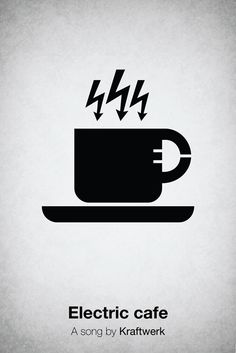 Pictogram music posters of song names - Electric Cafe - Kraftwerk