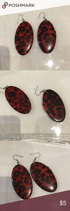 Vintage animal print earrings Animal print earrings Jewelry Earrings