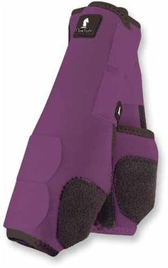 Classic Equine Legacy Front Boot Large Purple by Classic Equine. $73.99. An ultra lightweight, close profile, support boot that is ideal for training and competition. The shock absorbing Splint Pad gives maximum protection to the splint bone, tendons, and other soft tissues. Guards against crossfire and other scalping injuries. A suspensory rib is positioned between the tendon and the canon bone to ensure proper boot alignment. 100% virgin perforated neoprene. A fitted...
