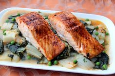 Recipe: Easy Roasted Salmon and Bok Choy | Greatist