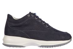 Hogan Women's Shoes Suede Trainers Sneakers Interactive H Bucata In Blue Suede Shoes, Women's Shoes, Adidas Sneakers, Partner, Blue, Shopping, Link, Style