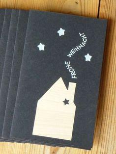 weihnachtskarte basteln schwarz weiss