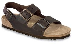 "Birkenstock <span class=""color"">Habana</span> <span class=""material"">Oiled Leather</span> <span class=""silhouette"">Milano</span>"