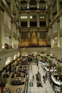The Wanamaker Grand Organ at Macy's Center City in Philadelphia is the largest playing organ in the world and attract thousands to its two daily concerts.