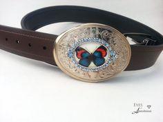 Butterfly belt buckle Springtime jewelry. by EyesofAnastasia