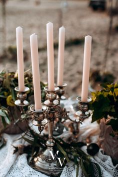 Are you thinking about an inspired vintage wedding decor with antique details? Choose your perfect wedding decor accesories like this candelabras at Maria Voudouri ! It looks so classy and elegant at the same time!