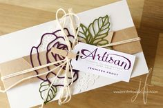 Papercraft by Jennifer Frost: Stampin' Up! Artisan Blog Hop