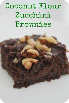 brownie, dark chocolate, zucchini, coconut flour, walnuts