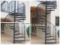 Spiral interior staircases painted steel with solid wood steps or secure and laminated glass steps. Glass Stairs, Floating Stairs, Wooden Stairs, Interior Staircase, Exterior Stairs, Painted Staircases, Wood Steps, Laminated Glass, Interior Decorating