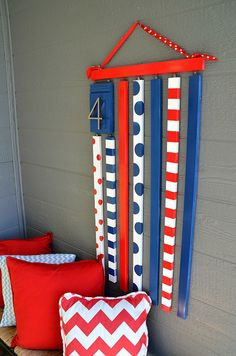 Wooden 4th of July Flag at Tatertots and Jello #LowesCreator