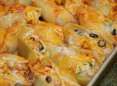 """""""This dish is very easy to make. It's Mexican with a twist. My kids love these stuffed shells!"""""""
