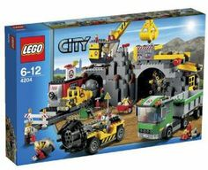 LEGO City The Mine 4204 by LEGO. $128.80. Features mine, drill, truck and crane. Crane features rotating cabin, moving arm and lowering shovel. Truck features articulated cab. New & Sealed in box