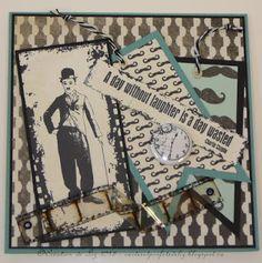 Cartes artisanales et autres projets artistiques de Liz: Une carte d'anniversaire au masculin! Creations, Scrapbooking, Day, Masculine Birthday Cards, Male Birthday, Art Projects, Scrapbooks, Memory Books, The Notebook