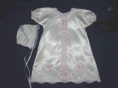 Some of the smallest burial gowns were made for 18-22 week old babies.