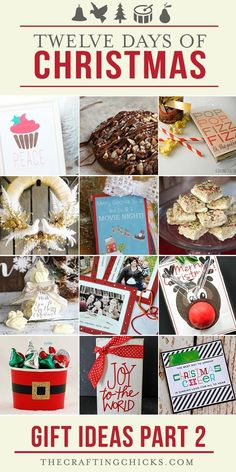 The 12 Days of Christmas Gift Ideas - Neighbor gifts - recipes - Christmas Decor - printables
