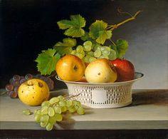 """Artwork history: James Peale - """"Fruit Still Life with Chinese Export Basket"""" http://designmuitomais.blogspot.com.br/2014/11/a-historia-da-obra-de-arte-e-de-seu.html"""