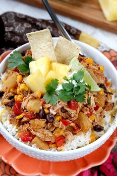 Sweet and Spicy Pineapple Salsa Chicken (Slow Cooker) | Carlsbad Cravings