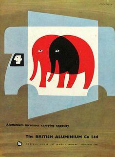 Elephant Tom Eckersley - poster