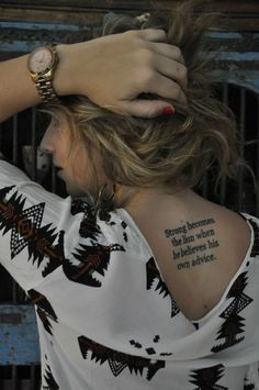 Quote on back..