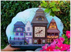 Купить Часы детские настенные Весенняя Бавария - эксклюзивные часы, дизайнерские часы