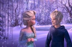 Elsa is looking at Jack when he thinks something is funny when to her it's not.