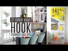 37 Organizing Ideas Using Command Hooks All Over Your House