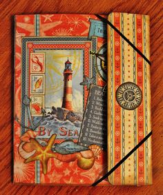 Adventures in Paperland G45 By the Sea paper w/ Tim Holtz Folio