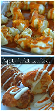 Cheesy Buffalo Cauliflower Bites