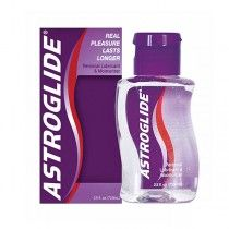 Accidentally discovered by NASA, Astroglide Personal Lubricant provides whisper-light lubrication for enhancing the comfort and ease of intimate activity. Because Astroglide was developed to mimic natural body fluids, it is often recommended by OB-GYN's and not only lubricates, but also acts as a moisturizer for vaginal dryness.