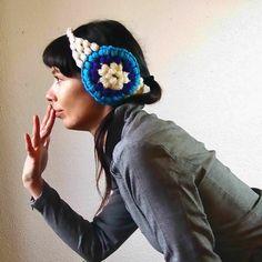 cute crochet stitch earmuffs