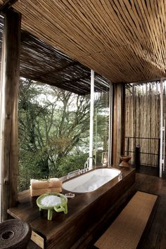 With only six riverside rooms, this intimate safari lodge on the banks of the Sweni river offers true seclusion. The Kruger National Park surrounds you, offering some of the world's best safari experiences, but the luxurious rooms at Singita Sweni don't compromise on comfort, offering game-viewing decks, indoor/outdoor showers and complimentary minibar.